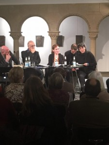 LCB, Berlin a night with Nora Bossong and Jan Wagner, Mr.Hosseini zad and Pajand Soleymani as a contemporary Iranian poet and writer, 2017.